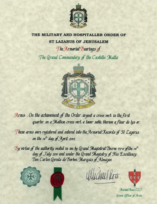 Decree of Armorial Bearings 120705 600